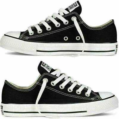 Converse Lo Top Mens Womens Unisex All Star Black Chuck Taylor Trainers Shoes UK