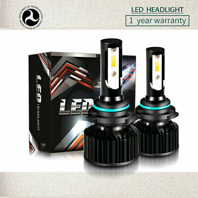 TURBOSII 9006 HB4 LED Headlights Bulb Kit Low Beam 40W 3200LM 6500K White DT78