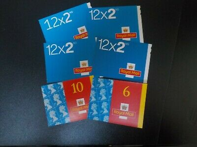 64 new 2nd class self-adhesive postage stamps (face value £39.04) in booklets