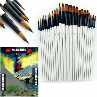 12pcs Artist Paint Brushes Set Acrylic Oil Watercolour Painting Craft Art Set