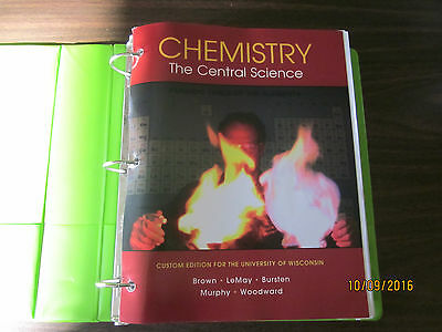 CHEMISTRY: The Central Science Custom Edition for the University of Wisconsin