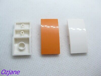 LEGO PART 30602 ORANGE SLOPE CURVED 2 X 2 LIP NO STUDS FOR 4 PIECES