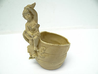 Antique Old White Porcelain 10188 Cherub Angel Decorative Teacup Cup Used