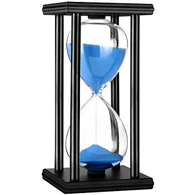 Hourglass Timer 30/60 Minutes Wood Sand Hourglass Clock for Creative Gifts Room