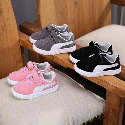 Children Boys Girls Sports Sneaker Shoes Kids Toddlers Pre-Walker Plimsoll Learn