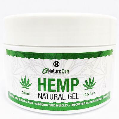 Nature Can Hemp Gel Joint Muscle Tension Natural Pain Relief 300ml 10.5 Oz