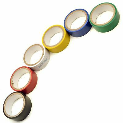 6PK Insulation Insulating Tape Electrical Electricians PVC Roll 6 Colours Sil1