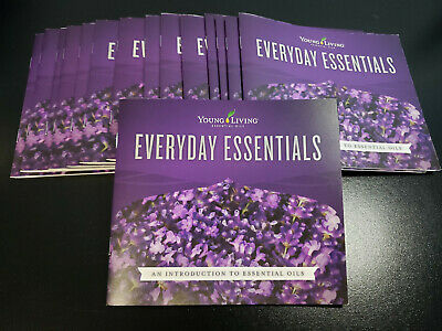 Lot of 15 Young Living Essential Oils Everyday Essentials - New! Guide Book