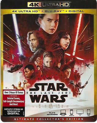 STAR WARS THE LAST JEDI 4K ULTRA HD & BLURAY & DIGITAL SET with Carrie Fisher