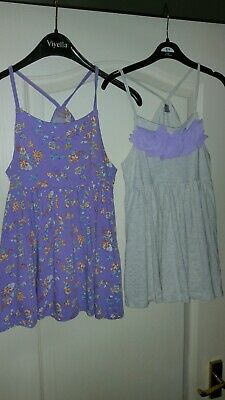 Tu Two Pack Girls Racer Back Pretty Vests Age 9