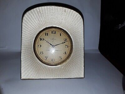 SUPERB Solid Silver Clock London 1934