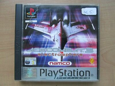 Playstation 1 - Ace Combat 3 - Manual INCLUDED