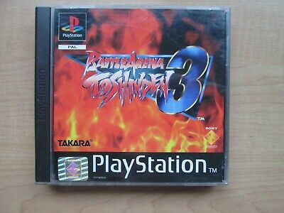 Playstation 1 - BattleArena 3 - Toshinden - Manual INCLUDED