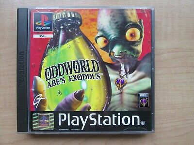 Playstation 1 - Oddworld - Abe's Exoddus - Manual INCLUDED