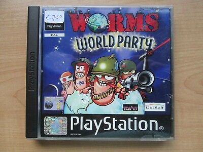 Playstation 1 - Worms World Party - Manual INCLUDED