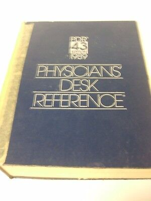 Physicians' Desk Reference PDR, 1989 Hardcover 43 Edition