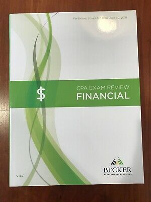 2018 Becker CPA Exam Review Financial FAR Book v 3.2. NEW