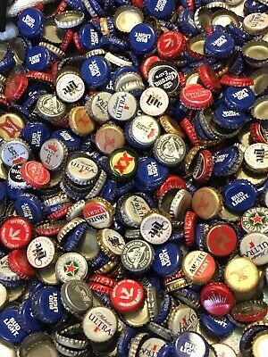 Lot of 500+ Used Beer Bottle Caps - Over 2 Pounds - Mixed Variety Of Brands