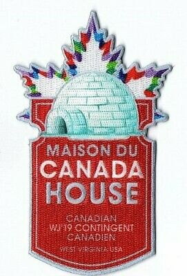 2019 World Scout Jamboree Summit Canada House Igloo IST Contingent Patch WSJ