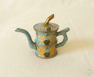 Antique Late 19Th Early 20Th Century Chinese Cloisonné Miniature Tea Pot