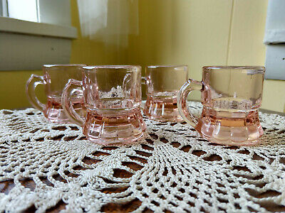 Vintage Rose Gold/Pink Shot Glass/Federal Glass reproduction