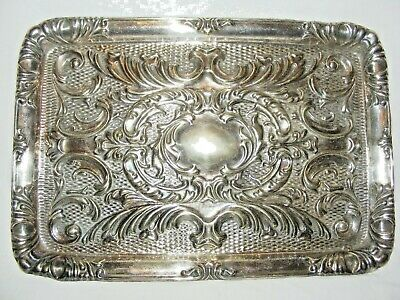 Antique Epns Silver Plate Repousse Tray Platter Very Ornate