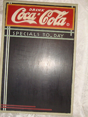 COCA- COLA SPECIALS TODAY  MENU CHALKBOARD ONLY WALL DECOR- 16 3/4  X  11 inches