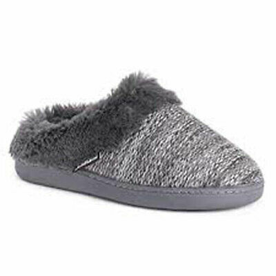 MUK LUKS Women's Suzanne Clog Slippers Charcoal Small NEW