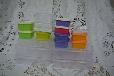 18 Plastic Boxes Suitable for Fishing, Crafts, Jewellery etc