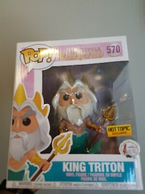 Disney KING TRITON 6 Inch #570 Hot Topic Exclusive Funko Pop box flaws