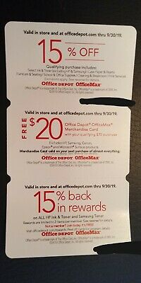 Office Depot - Office Max coupon bundle exp. 9/30/19 in-store and online