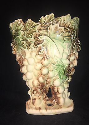 1950's Cluster Of Grapes McCoy Pottery Vase/Vintage Mid-Century Art Pottery
