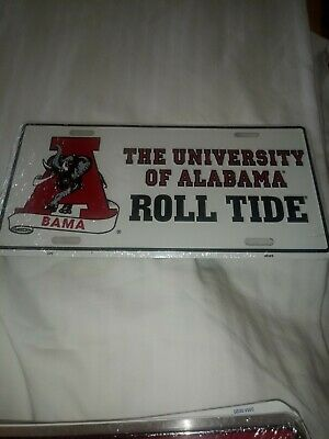 """""""A Bama"""" The University Of Alabama Roll Tide  Metal License Plate Car Tag R30"""