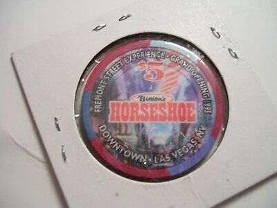 Binions  Horseshoe Club Hotel Casino $5.00  Chip 1995 Fremont Street Experience