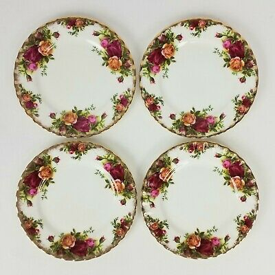 Set Of 4 Royal Albert Old Country Roses Bread & Butter Plates 3 Sets Available