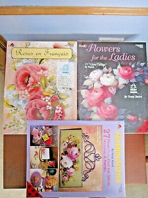 Plaid Decorative Painting Booklets (3) - Roses, Flowers, Celebrations NEW!
