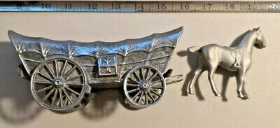 Antique Cast Metal Horse Drawn Carriage and Horse -- 261