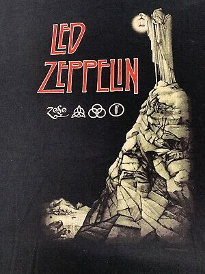 VINTAGE LED ZEPPELIN STAIRWAY TO HEAVEN Rock Band Double Sided T-Shirt XL