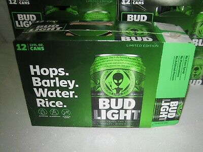 Bud Light Alien Area 51 12 Pack Empty Box Limited Edition Brand New