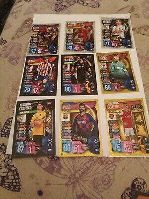 Topps Match Attax 2019-20 100 Different Cards .Includes Gold Card.@Foils.