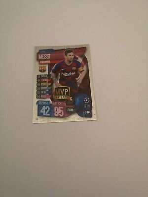Topps Match Attax 2019-20 Lionel Messi.  M.v.p. Card.
