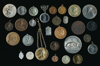 29 Old Europe Medals (Swiss German French More?) Must See > Nice > No Reserve
