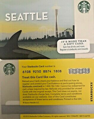 Lot Of 20 - 2015 Starbucks Seattle  Gift Card #6108 No Value