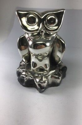 """New Old Stock ZANFELD 999 Sterling Silver Little Owlet Sculpture Size 3""""H"""