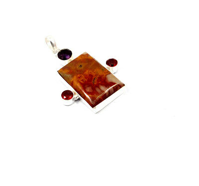 Mookaite .925 Silver Plated Handmade Pendant Jewelry JC10217