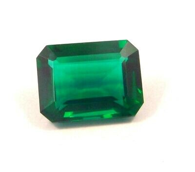 Treated Faceted Emerald Gemstone   15CT 18x12mm RM13959