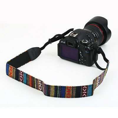 Neck Shoulder Strap Belt Vintage for SLR DSLR Camera Binoculars Nikon Canon TR