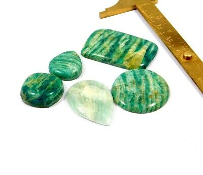 110 Cts. 100% Natural Lot Of Amazonite Loose Cabochon Gemstone NG21980
