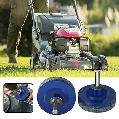 2pc Drill Mounted Sharpener Lawn Mowers Shears Sythe Slasher Sickle Blades PA080