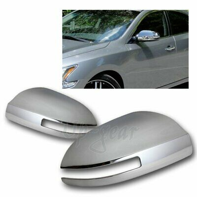 Fit 2009-2015 NISSAN MAXIMA SIDE MIRROR WITH SIGNAL CUT Chrome Cover